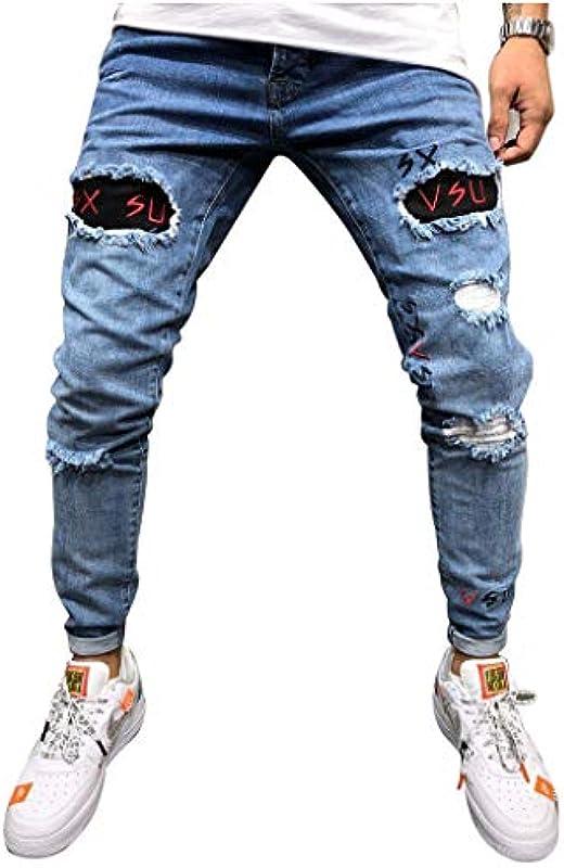 Snakell dżinsy męskie, chłopięce, dżinsy z otworami, spodnie do spędzania wolnego czasu, spodnie destroyed stretch, spodnie dresowe, spodnie dżinsowe, spodnie dresowe, spodnie dżinsowe: