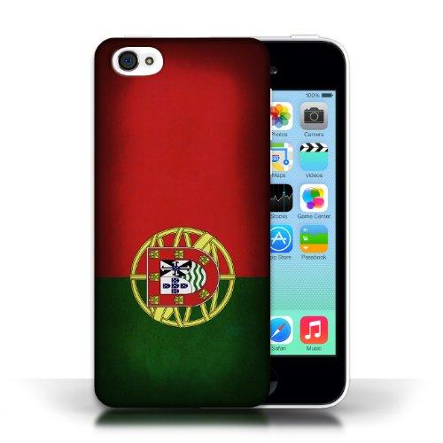 iCHOOSE Print Motif Coque de protection Case / Plastique manchon de telephone Coque pour Apple iPhone 5C / Collection Drapeau / Portugal/portugais