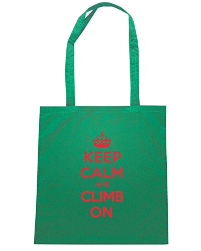 T-Shirtshock - Bolsa para la compra OLDENG00844 keep calm climb Verde