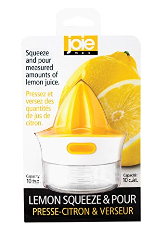 Harold Import Company Joie Citrus Squeeze and Pour Juicer Reamer with 10 Teaspoon Capacity Pour Spout (BPA Free and FDA Approved - Lemon Spoon