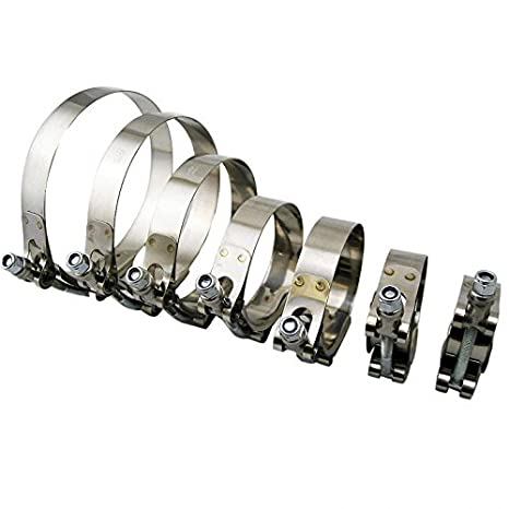 3.03-3.35 301 Stainless Steel 70mm Turbo Silicone Hose T-Bolt Clamp 77mm-85mm YJ RACING 1PC 2.75