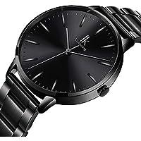 Bestn Women Quartz Wrist Watch Black Stainless Steel Analogue Quartz Lady Dress Watch