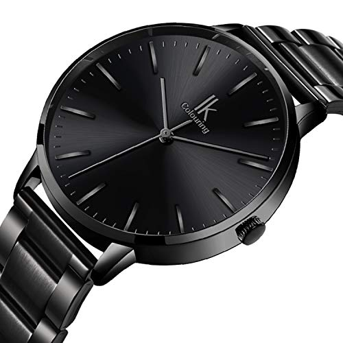 Ladies Quartz (Bestn Women Quartz Wrist Watch Black Stainless Steel Analogue Quartz Lady Dress Watch)