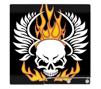 Flaming Skull Skin for Sony Playstation 3 Slim Console