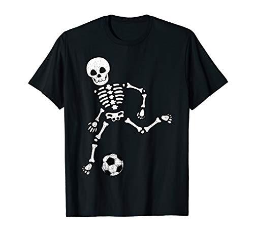 Skeleton Soccer Shirt Halloween Sport Player Costume