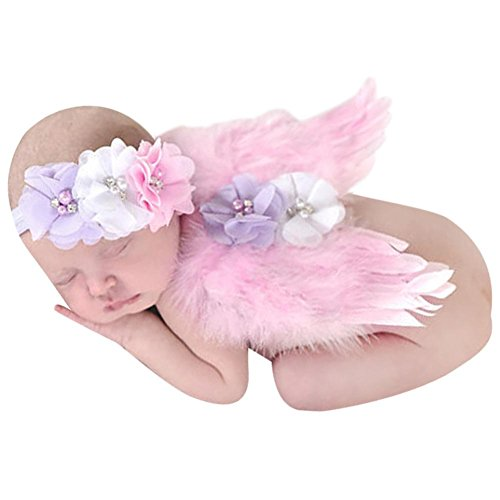 Babys Photography Props,amazingdeal Newborn Kids Girls Angel Feather Wings Costume(Pink1)
