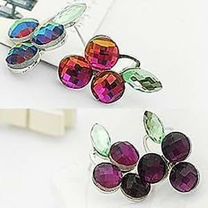 Get (Uva) Purple Stud Pendientes de aleación (púrpura) (1 par) , Púrpula