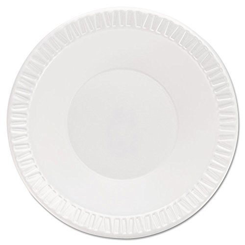 Dart 12BWWQR Quiet Classic Laminated Foam Dinnerware Bowls, 10-12 Oz, White, 125/Pk