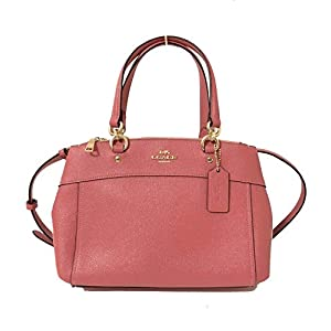 Coach Womens Mini Brooke Carryall Handbag, Signature Crossgrain Leather, Detachable Crossbody Strap