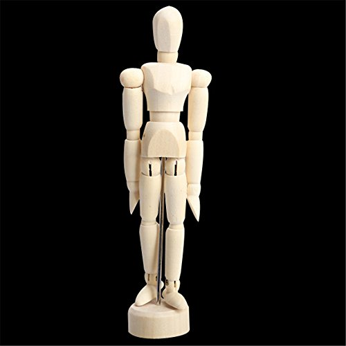 4.5 Inch Wooden Puppet Toy Male Artist Manikin Jointed Mannequin Hand Blockhead Puppet