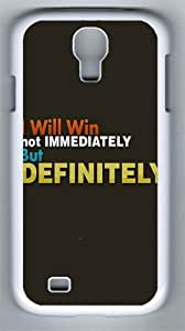 I will win PC Hard Case Cover For Samsung Galaxy S4 SIV I9500 Case and Cover White
