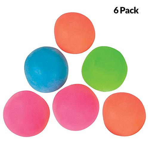 Pull & Stretch Squeeze Balls – (Pack of 6) in Assorted Colors, A Soft Stretchy Bouncing Ball, for Stress and Anxiety Relief Autism Special Needs and More