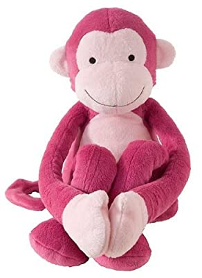Lambs Ivy Lollipop Jungle Plush Pink Monkey by Lambs & Ivy
