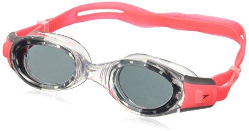 Speedo Future Biofuse Lunettes de natation, couleur rouge psycho et fumée