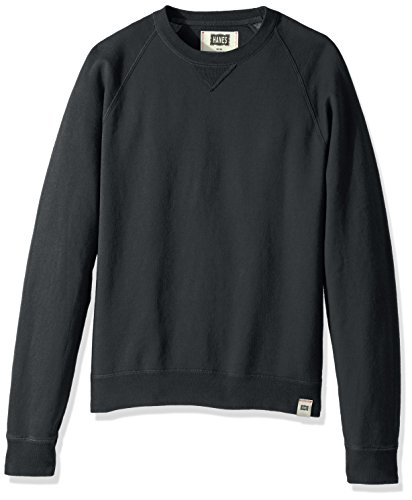 Hanes Men's 1901 V-Notch Raglan Sweatshirt, Dark Screen, X-Large ()
