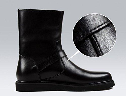 Negro Negro Botas Hombre Color UK8 para Cuero Marrón Tamaño Piel de Zapatos 5 Martin Clásicos Army Hombre Botas EU44 XqUPPRY