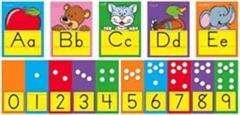 ARGUS ABC Fun Alphabet Line Zaner Bloser Bulletin Board Set (T-8137)