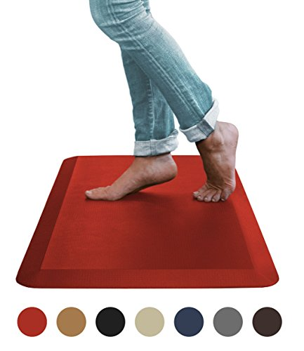 """Sky Mat, Comfort Anti Fatigue Mat, Perfect for Kitchens and Standing Desks, 20 x 32 x 3/4"""" (Red)"""