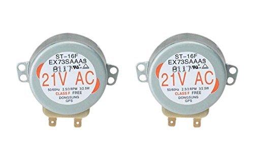 2 x GE WB26 X 10038 Tocadiscos Motor para microondas horno ...