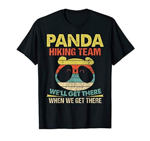 (Panda Hiking Team - Panda Bear Funny Quote Vintage T-Shirt)