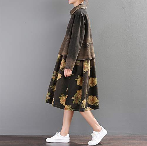 Viejo Algodón Abrigo Cosiendo De De Costura Lavada Abrigo Imzoeyff Mujer De Cazadora Tamaño Retro Suelta Larga Trinchera Gran nvIgzqfw