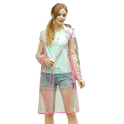 Camping À En Pluie Manteau Cyclisme Raincoat Femmes Ceinture pluie Plein Imperméables Rouge Air Et Coupe Randonnée Vestes Ponchos Cayuan Capuche Transparent wAqx87f8T