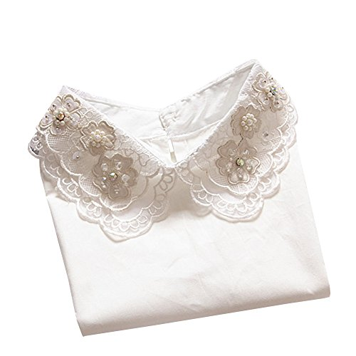Shinywear Womens Blouse Collar Embroidered