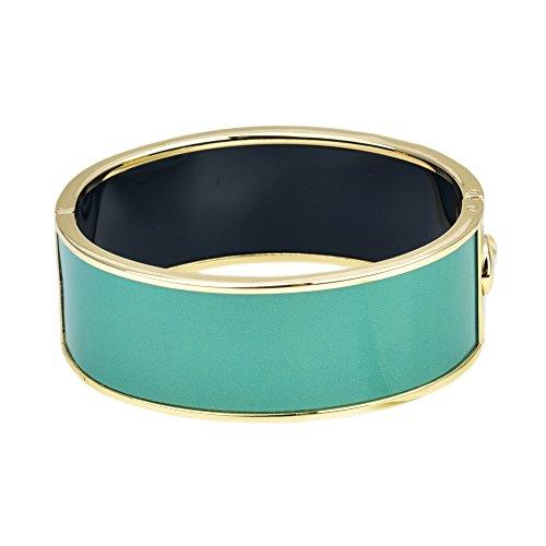 Plain Color Hinged Bangle (Turquoise)