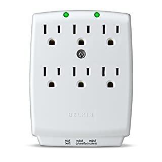 Belkin 6-Outlet SurgeMaster Wall-Mount Surge Protector, 1045 Joules (F9H620-CW), Discontinued by Manufacturer (B00006BBAC) | Amazon price tracker / tracking, Amazon price history charts, Amazon price watches, Amazon price drop alerts