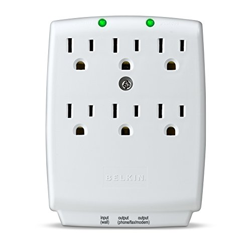 Belkin 6-Outlet SurgeMaster Wall-Mount Surge Protector, 1045 Joules (F9H620-CW), Discontinued by Manufacturer (Belkin Six Outlet Wall Mount)