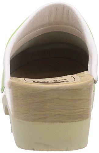 Gevavi 4010 BIGH. Flexibler CLOG - Zuecos de piel mujer Verde - Grün (grün(l.groen) 18)