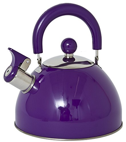 Lifetime Cooking Retro Style 2.5L Whistling Kettle Stainless Steel Purple
