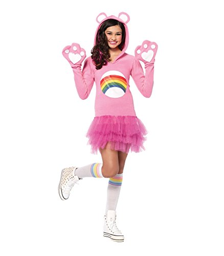 Leg Avenue Junior's Care Bears Cheer Bear Costume, Light Pink, Small/Medium -