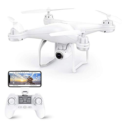 Potensic Drone GPS, Drone con Camara 1080P HD con Follow Me, 120º Gran Angular, RTF Altitude Hold, Modo Sin Cabeza y Retorno a Casa, T25 Blanco