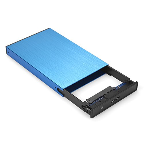 "Seatay Ultra Slim USB 3.0 to 2.5 Inch SATA External Hard Drive Enclosure For 9.5mm 7mm 2.5"" SATA HDD And SSD Tool-free [Support UASP](Blue)"