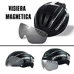 DIRIDERO-Casco-Bici-Luce-LED-Certificato-CE-Casco-con-Visiera-Magnetica-Staccabile-Casco-da-Bici-Super-Leggero-Casco-Integrale-MTB-e-Bicicletta-Skateboarding-Sci-Snowboard-per-Adulti