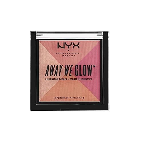 NYX PROFESSIONAL MAKEUP Away We Glow Illuminating Powder, Crushed Rose, 1.2 Ounce