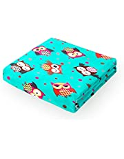 i-baby Soft Baby Blanket Cozy Flannel Fleece Toddler Blanket Large Infant Wrap Plush Infant Swaddling (90x120cm, Blue)