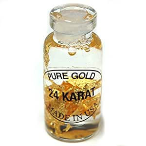Genuine Gold Flakes in a Bottle (Thin Bottle) - 1pc.