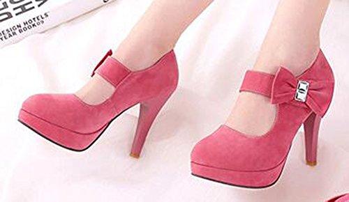 Easemax Womens Fashion Round Toe Platform High Heel Stiletto Dress Pump Pink WA9imgOSW