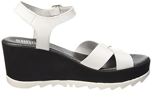 SHOOT Shoot Shoes Sh-163068 Damen Sommer Plateau Sandale - Sandalias Mujer Blanco