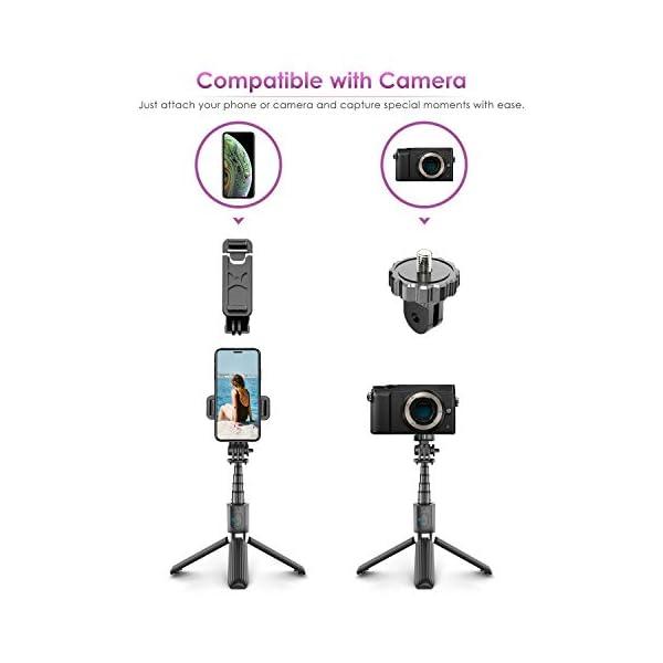 ELEGIANT Bastone Selfie Wireless, 4 in 1 Asta Selfie Stick Bluetooth con Treppiede per Camera Gopro 3,7-6,8 Pollici Cellulare iPhone 11 XS Max XR x 8s Samsung Galaxy S20 s10 s8 Huawei P30 P20 PRO 3 spesavip