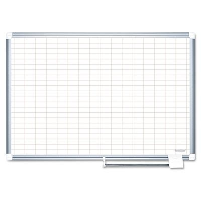 MasterVision Planning Board Magnetic Dry Erase, 1'' x 2'' Grid Planner with Aluminum Frame, 36'' x 48'' by MasterVision