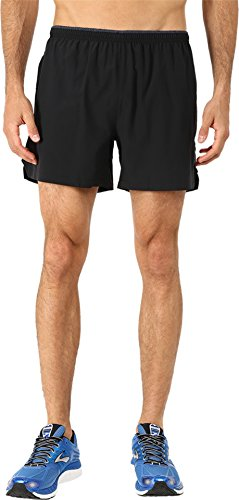 "Brooks Men's Sherpa 5"" Shorts Black Medium 5"