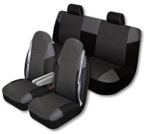 auto expressions 804302 highland big truck 3 piece black seat cover kit automotive. Black Bedroom Furniture Sets. Home Design Ideas
