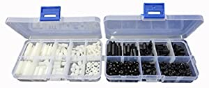 LU-CC Nylon Spacers Hex Nut Screw Stand-off Plastic Accesories Assortment Kit from LU-CC