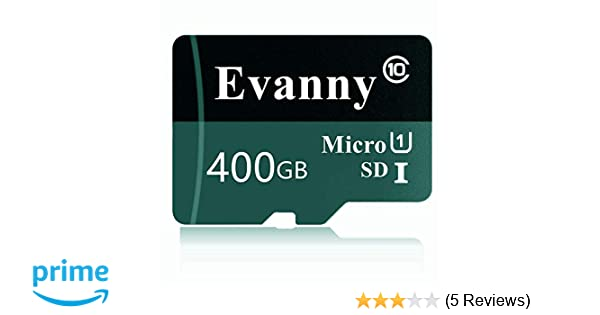 Evanny 400GB Micro SD SDXC Memory Card High Speed Class 10 with Micro SD Adapter(E67-FD) (400GB)