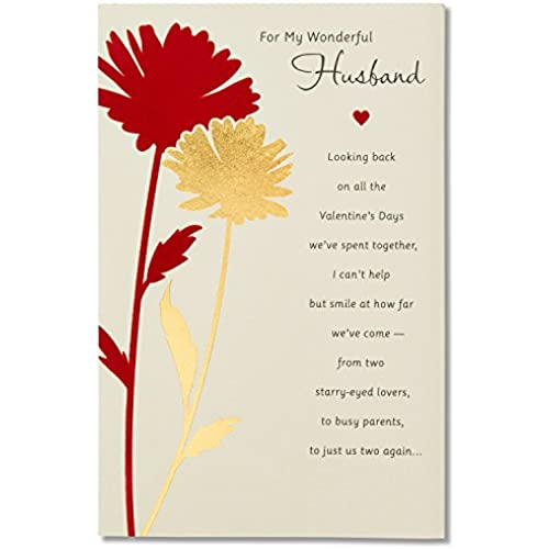 Wonderful Husband Sentimental Valentine's Day Card for Husband with Foil Sales