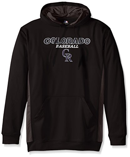 - MLB Colorado Rockies Men's Fleece Hood, 3X, Black/Storm Grey
