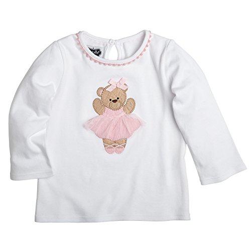 Ballet Tunic (Mud Pie Little Girls Ballet Bear Tunic, White, 18 Months)